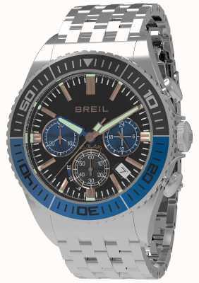 Breil | мужская манта 1970 солнечная | черный циферблат | черный / синий ободок | TW1820