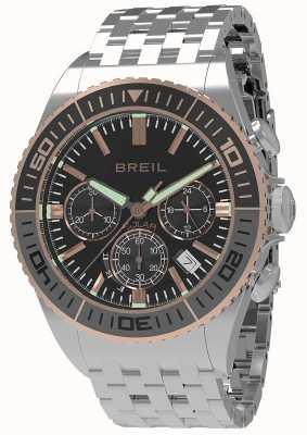 Breil | мужская манта 1970 солнечная | черный циферблат | серый / черный ободок | TW1821
