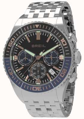Breil | мужская манта 1970 солнечная | черный циферблат | темно-синий / черный ободок TW1822