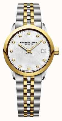 Raymond Weil Фрилансер женский алмазный двухцветный нержавеющая сталь 5626-STP-97081