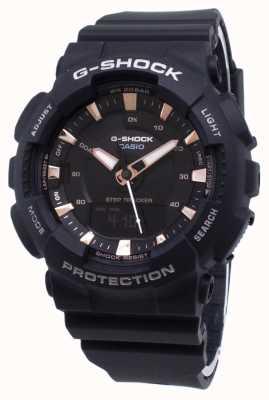 Casio G-shock step tracker черный ремешок из смолы GMA-S130PA-1AER