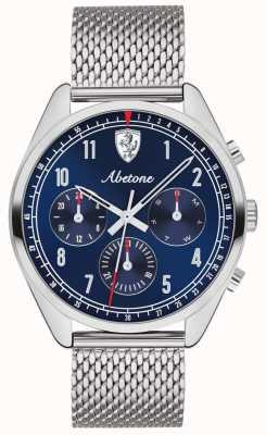 Scuderia Ferrari | мужской абетон | синий циферблат | браслет из серебряной сетки | 0830572