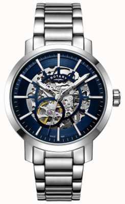 Rotary | мужской гринвичский скелет | браслет из нержавеющей стали | GB05350/05