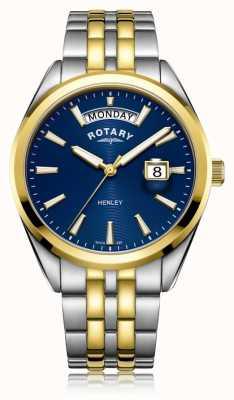 Rotary | мужская хенли | синий циферблат | браслет из нержавеющей стали | GB05291/05