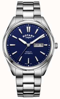 Rotary | мужская хенли | зазубренный ободок | синий циферблат | нержавеющая сталь GB05380/05