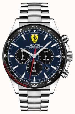 Scuderia Ferrari | мужская пилота | браслет из нержавеющей стали | синий циферблат | 0830598