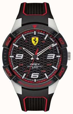 Scuderia Ferrari | верхушка мужская | черный резиновый ремешок | черный циферблат | 0830630