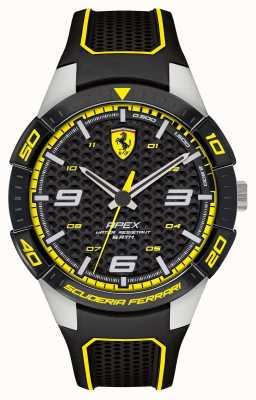 Scuderia Ferrari | верхушка мужская | черный резиновый ремешок | черный / желтый циферблат | 0830631