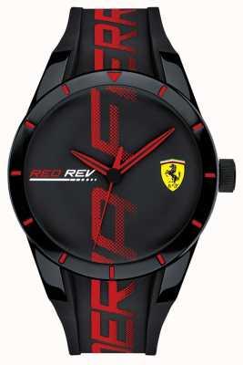 Scuderia Ferrari | мужской редрев | черный / красный силиконовый ремешок | черный циферблат | 0830614