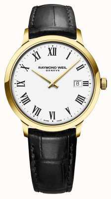 Raymond Weil | мужские токката | классический pvd золотой корпус белый циферблат | 5485-PC-00300