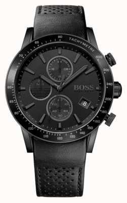 Hugo Boss | мужской хронограф Rafale черный циферблат | черный кожаный ремешок 1513456