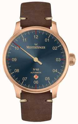 MeisterSinger Бронзовая линия № 03 темно-коричневая телячья кожа AM917BR