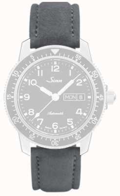 Sinn Серый алькантара, шов серый кожаный ремешок 123.4