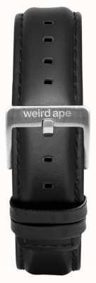 Weird Ape Черная кожа 16мм ремешок серебряная пряжка ST01-000045