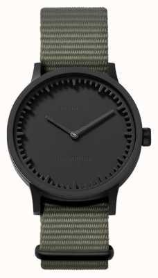 Leff Amsterdam | наручные часы | T32 | черный | серый нато ремешок | LT74252
