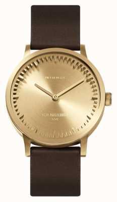 Leff Amsterdam | наручные часы | T32 | латунь | коричневый кожаный ремешок | LT74323