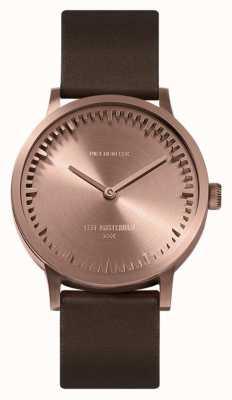 Leff Amsterdam | наручные часы | T32 | розовое золото | коричневый кожаный ремешок | LT74424