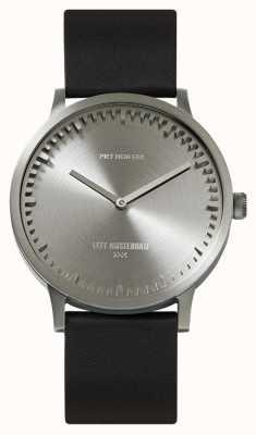 Leff Amsterdam | наручные часы | T40 | сталь | черный кожаный ремешок | LT75111