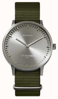 Leff Amsterdam | наручные часы | T40 | сталь | зеленый нато ремешок | LT75131