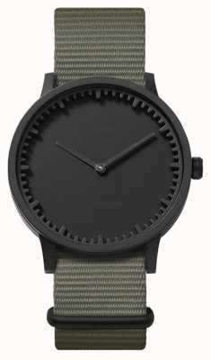 Leff Amsterdam | наручные часы | T40 | черный | серый нато ремешок | LT75252