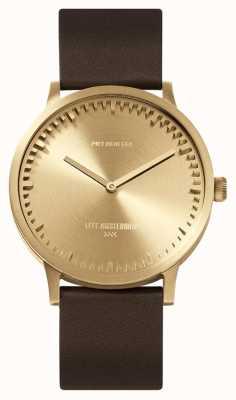 Leff Amsterdam | наручные часы | T40 | латунь | коричневый кожаный ремешок | LT75323