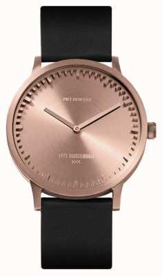 Leff Amsterdam | наручные часы | T40 | розовое золото | черный кожаный ремешок | LT75414