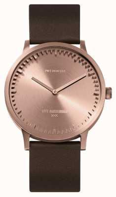 Leff Amsterdam | наручные часы | T40 | розовое золото | коричневый кожаный ремешок | LT75424