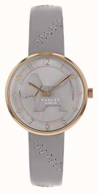 Radley | женский серый кожаный ремешок | серый циферблат для собак с тиснением | RY2804