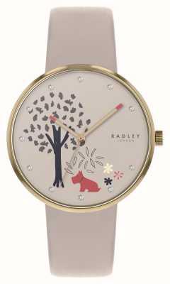 Radley | Эппинг лес | циферблат с изображением дерева и собаки | обнаженная кожа | RY2786