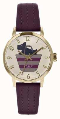 Radley | женский фиолетовый кожаный ремешок | печатная собака в сумке циферблате | RY2796