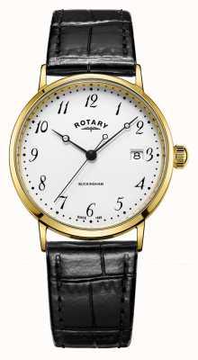 Rotary Мужская 9ct золотая шкатулка buckingham часы GS11476/18