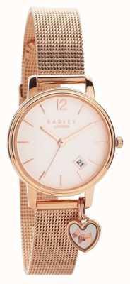 Radley | женский браслет из розового золота с сеткой | циферблат из розового золота | RY4390