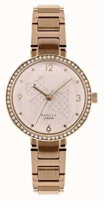 Radley | женский браслет из розового золота | вырезать циферблат собаки | RY4394