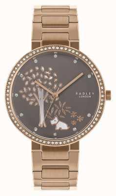 Radley | женский браслет из розового золота | белый / серый циферблат из дерева | RY4386