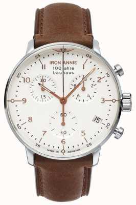 Iron Annie Баухауз | хроно | белый циферблат | коричневая кожа 5096-4