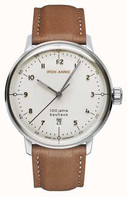 Iron Annie Баухауз | белый циферблат | коричневый кожаный ремешок 5046-1