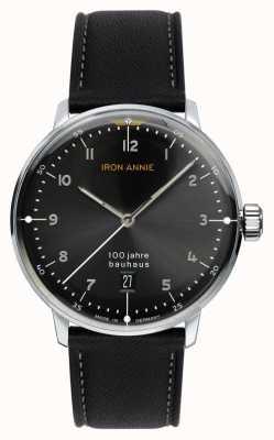 Iron Annie Баухауз | черный циферблат | черный кожаный ремешок 5046-2