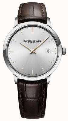 Raymond Weil | мужские токката | коричневый кожаный ремешок | серебряный циферблат | 5485-SL5-65001