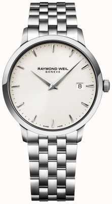 Raymond Weil Мужские часы Toccata с кремовым циферблатом, браслет из нержавеющей стали 5488-ST-40001