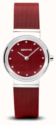 Bering Женские | классический | красный пвд стальной браслет 10126-303