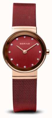 Bering Женские | классический | красный пвд стальной браслет 10126-363