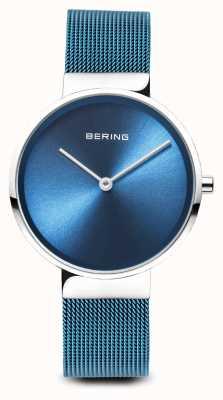 Bering Женские | классический | синий стальной браслет с покрытием из ПВХ 14531-308