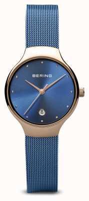 Bering Женские | классический | синий пвх покрытием синий сетчатый браслет 13326-368