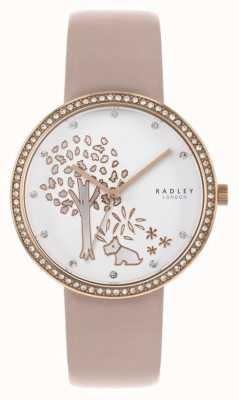 Radley | женская обнаженная кожа | циферблат из белого дерева | хрустальный безель RY2836