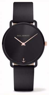 Paul Hewitt | дамы скучают по океану | черный кожаный ремешок | PH-M-B-BS-32S