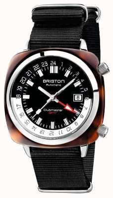Briston Ремешок черного цвета для автомобиля с ограниченным выпуском Clubmaster gmt nato 19842.SA.T.1.NB