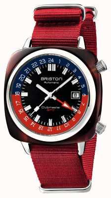 Briston Clubmaster GMT Limited Edition | автоматический | красный нато ремешок 19842.SA.T.P.NR