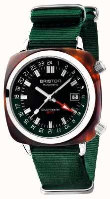Briston Clubmaster GMT Limited Edition | авто | зеленый нато ремешок 19842.SA.T.10.NBG