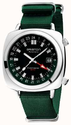 Briston Clubmaster GMT Limited Edition | авто | зеленый нато ремешок 19842.PS.G.10.NBG