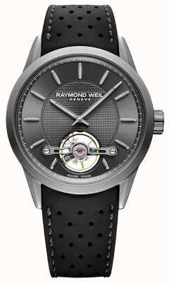 Raymond Weil Мужские | автоматический серый циферблат фрилансера | черный каучуковый ремешок | 2780-TIR-60001